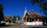 Wat Phra Singh or to give it its full name, Wat Phra Singh Woramahaviharn, was first constructed around 1345 by King Phayu, 5th king of the Mangrai Dynasty.<br/><br/>  King Mengrai founded the city of Chiang Mai (meaning 'new city') in 1296, and it succeeded Chiang Rai as capital of the Lanna kingdom. Chiang Mai sometimes written as 'Chiengmai' or 'Chiangmai', is the largest and most culturally significant city in northern Thailand.